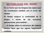 mutabilidad del signo