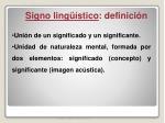 signo ling stico definici n