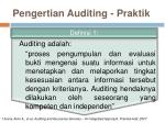 pengertian auditing praktik