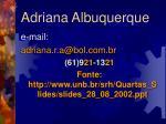 adriana albuquerque