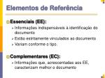 elementos de refer ncia