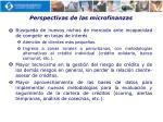 perspectivas de las microfinanzas