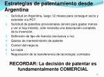 estrategias de patentamiento desde argentina