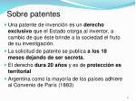 sobre patentes