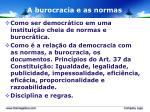 a burocracia e as normas