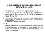 conocimiento de embarque aereo airway bill awb