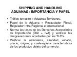 shipping and handling aduanas importancia y papel