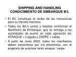 shipping and handling conocimiento de embarque b l1