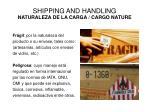 shipping and handling naturaleza de la carga cargo nature1
