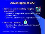 advantages of cai1