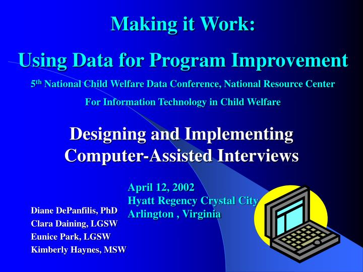 designing and implementing computer assisted interviews n.