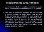 medidores de rea variable