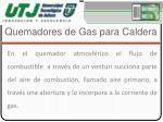 quemadores de gas para caldera