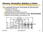 alarmes anomalias defeitos e falhas