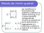 metodo dei minimi quadrati4
