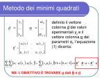 metodo dei minimi quadrati5