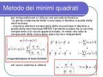 metodo dei minimi quadrati7