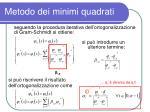 metodo dei minimi quadrati8