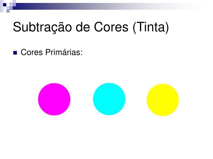 Subtração de Cores (Tinta)