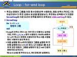 loop for end loop 1 2