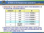 relational operator 1 5
