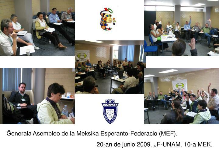 Ĝenerala Asembleo de la Meksika Esperanto-Federacio (MEF).