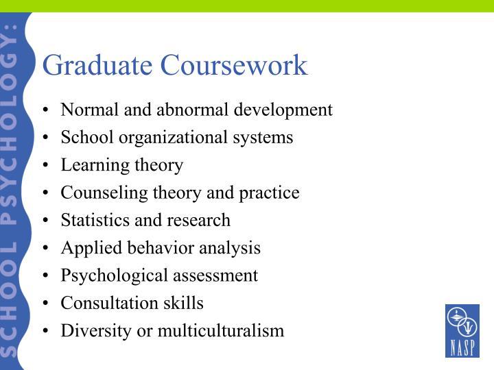 Graduate Coursework