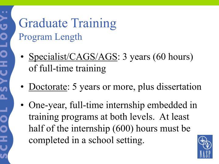 Graduate Training