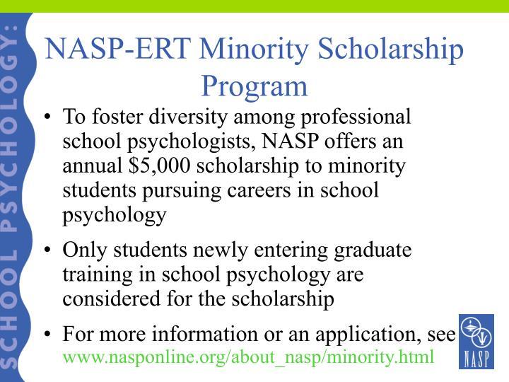 NASP-ERT Minority Scholarship Program
