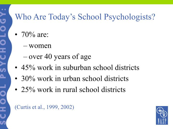 Who Are Today's School Psychologists?
