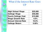what if the interest rate goes up