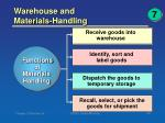 warehouse and materials handling