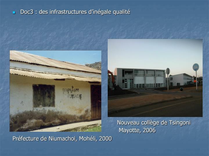 Doc3: des infrastructures d'inégale qualité