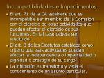 incompatibilidades e impedimentos