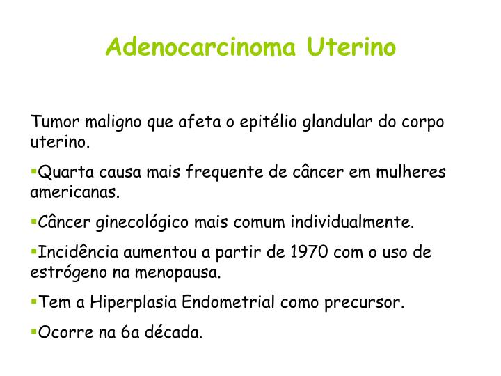 Adenocarcinoma Uterino
