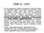 cmk m 135 1