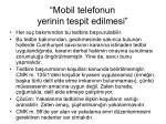 mobil telefonun yerinin tespit edilmesi1