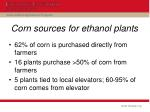 corn sources for ethanol plants