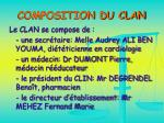 composition du clan