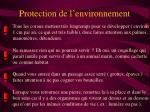 protection de l environnement