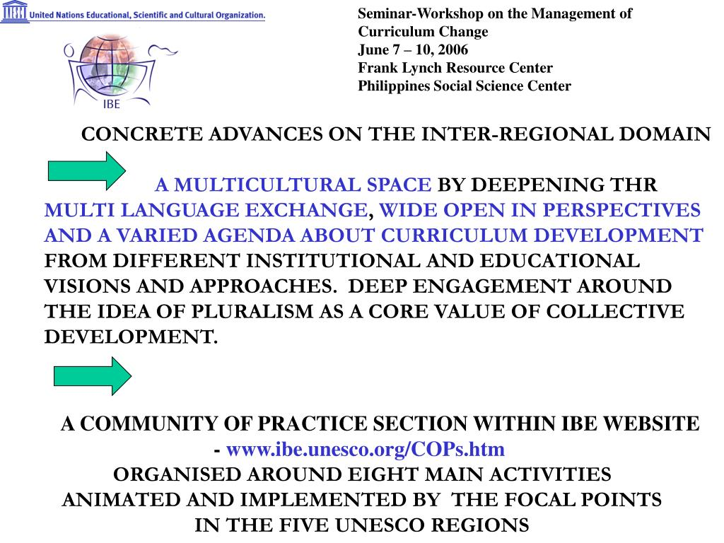 Seminar-Workshop on the Management of Curriculum Change