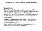 d claration des effets ind sirables