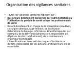 organisation des vigilances sanitaires
