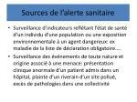 sources de l alerte sanitaire