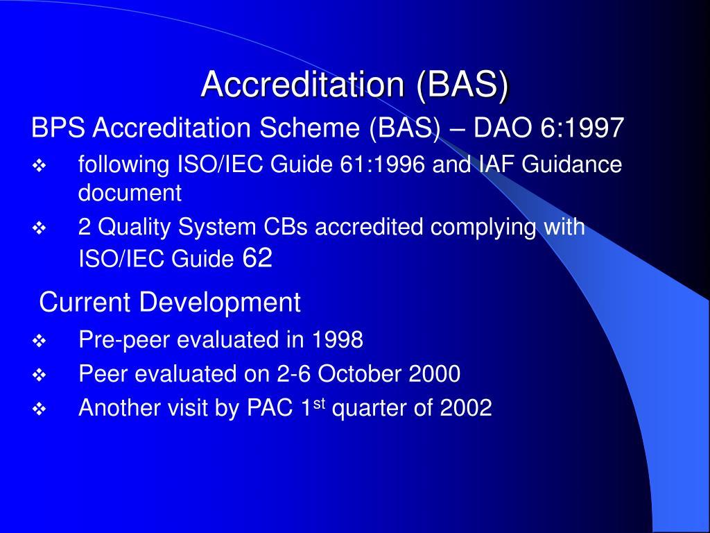Accreditation (BAS)