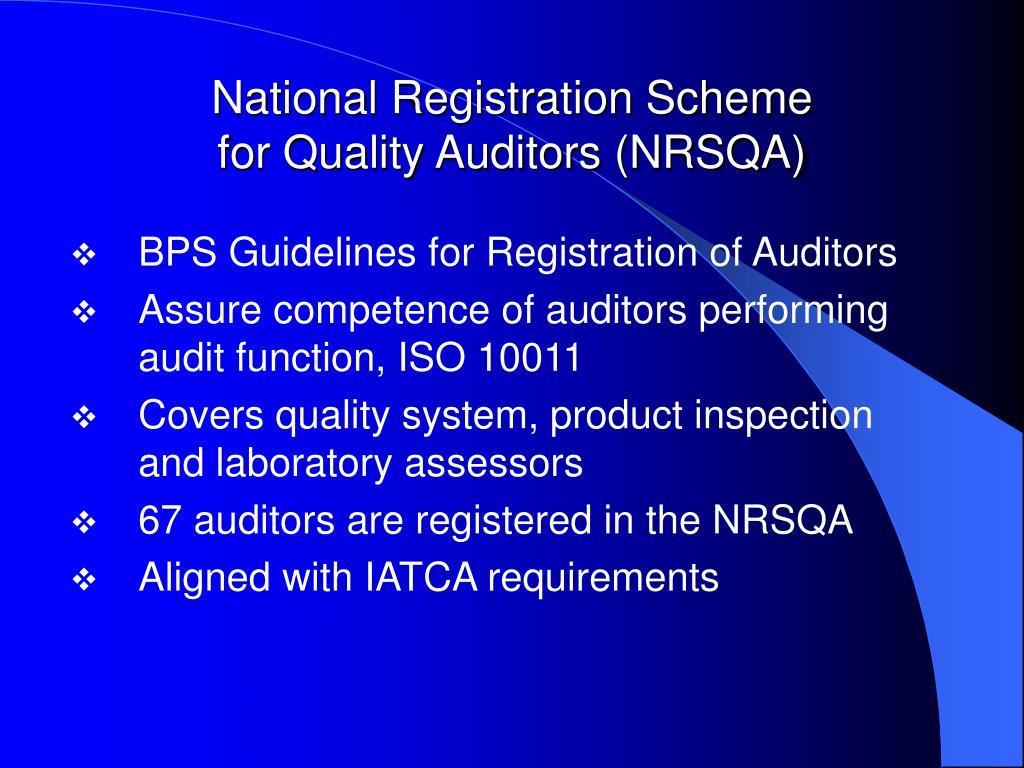 National Registration Scheme