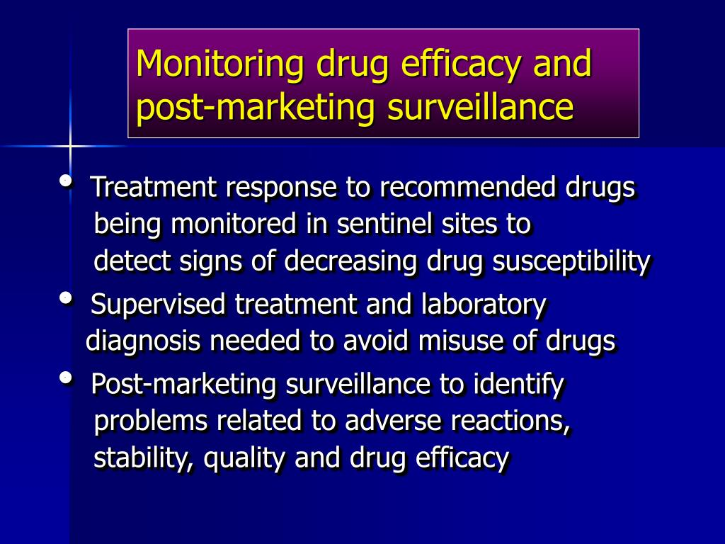 Monitoring drug efficacy and