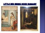 little red riding hood summary