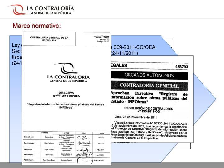 Directiva 009-2011-CG/OEA