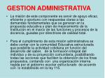 gestion administrativa